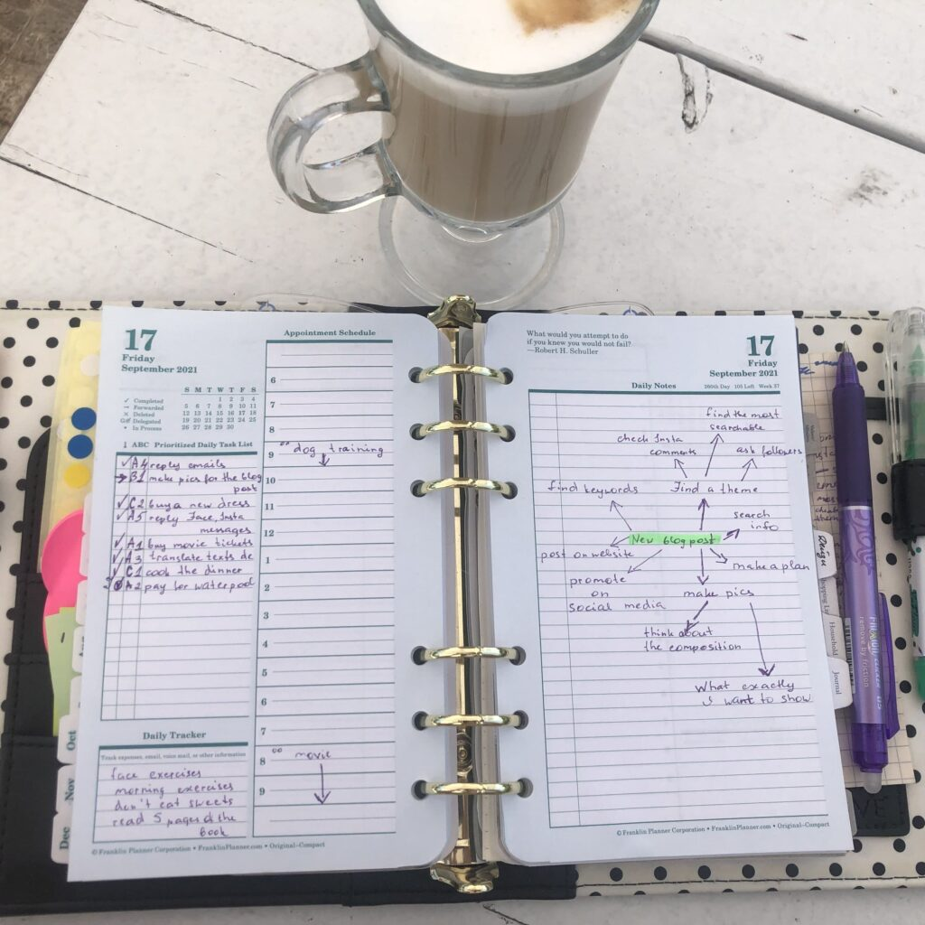 using a franklin planner